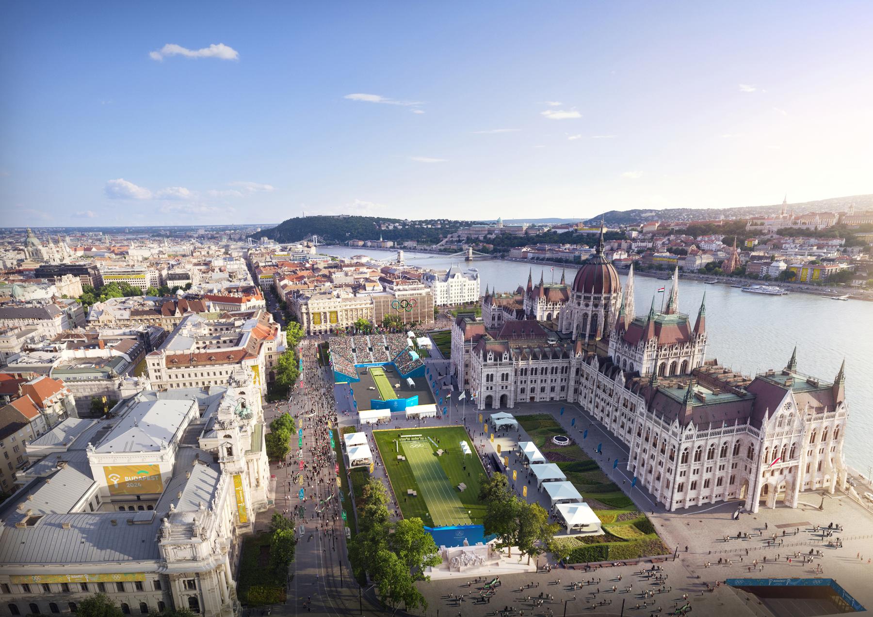 A megújuló Városliget és környéke több sportág szerelmesei számára szolgál majd felejthetetlen élményekkel, az igazán szerencsés környékbeliek például az ablakaikból is rálátnak majd némelyik versenyre. A győztest 2017 szeptemberében, Limában választják ki, jelenleg Budapest mellett Párizs és Los Angeles van még versenyben.  A látványtervek a Brick Visual közreműködésével készültek.