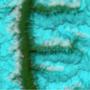 F: a Tibet fölött látható zöld F betű szemcséssé keményedett jeges hóból alakult ki.