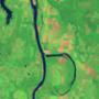 B: az Arkansas folyó a Holla Bend természetvédelmi terület mentén.